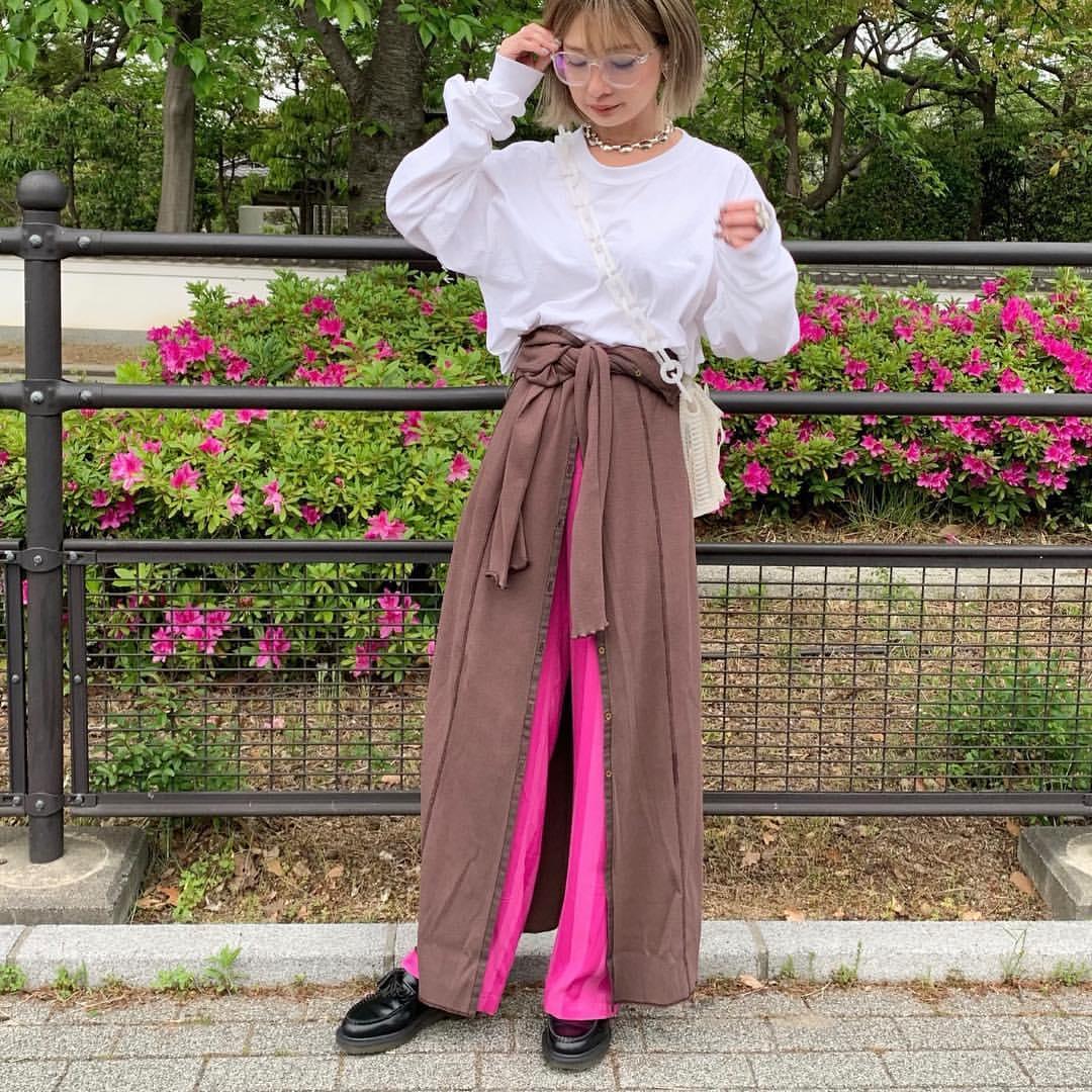 最高気温18度・最低気温13度 rira_yukariの服装