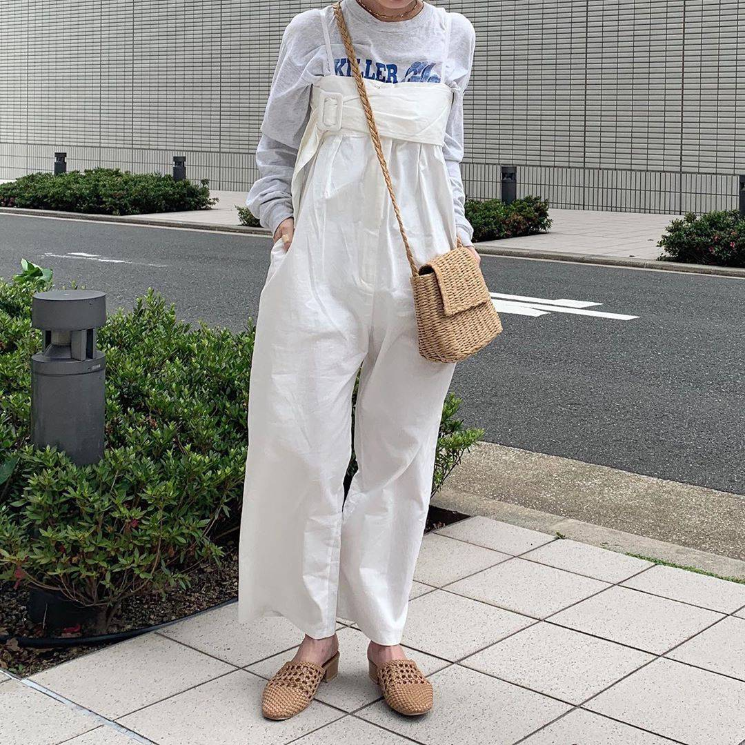 最高気温28度・最低気温17度 rira_yukariの服装