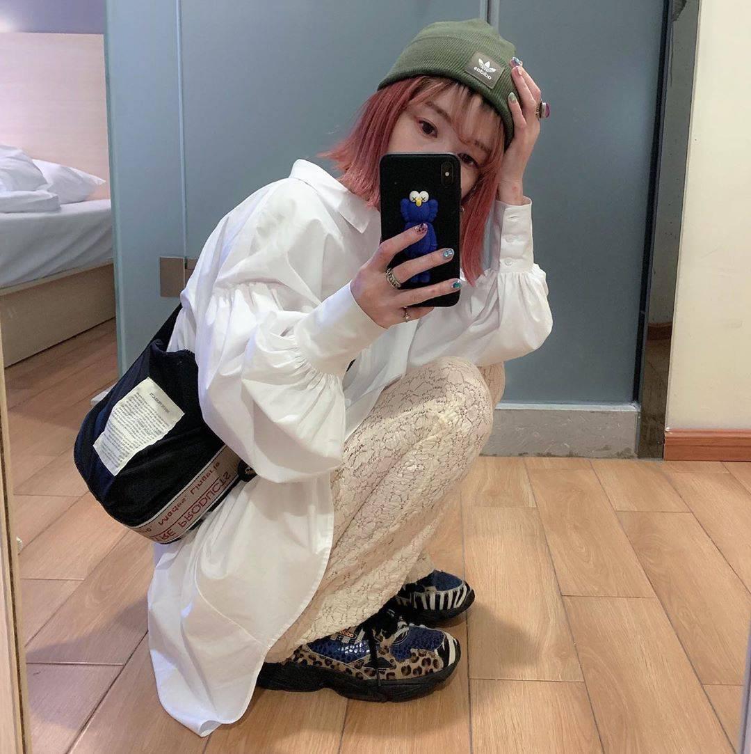 最高気温19度・最低気温14度 rira_yukariの服装