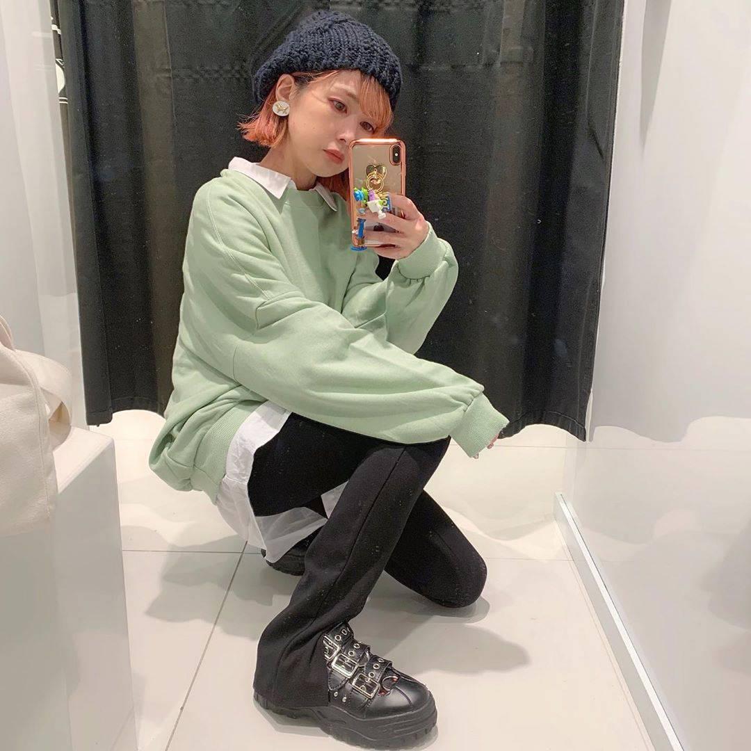 最高気温16度・最低気温12度 rira_yukariの服装