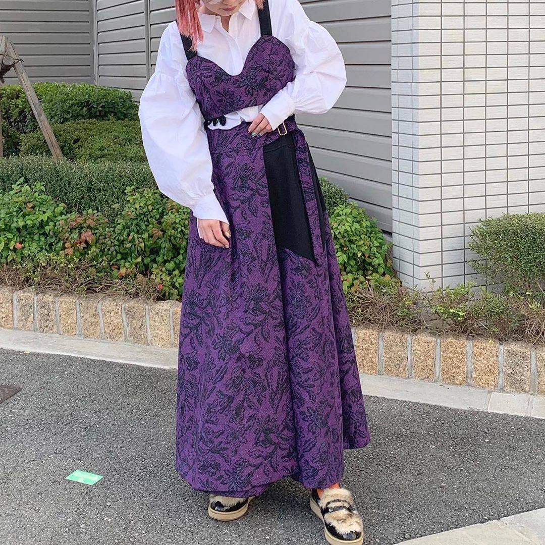 最高気温22度・最低気温12度 rira_yukariの服装