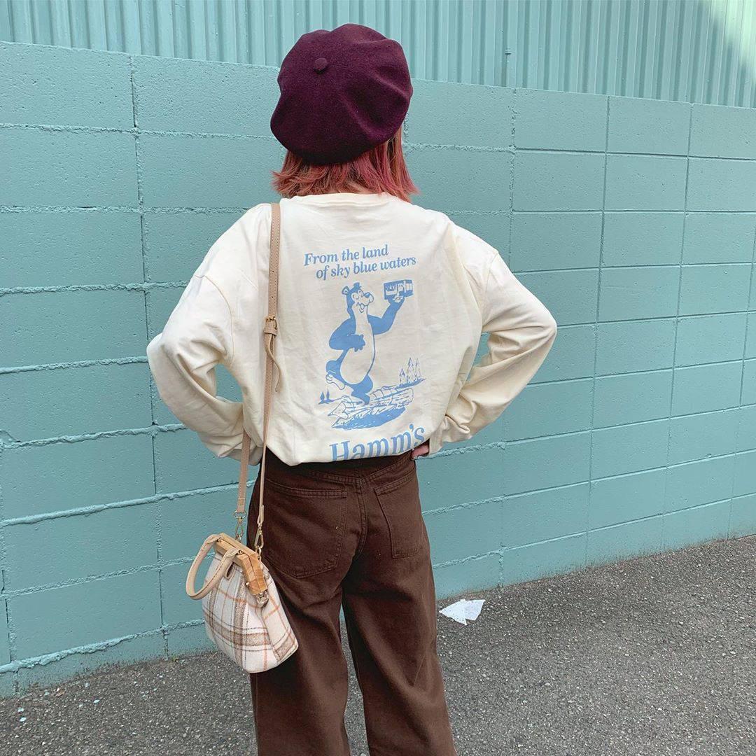 最高気温22度・最低気温14度 rira_yukariの服装