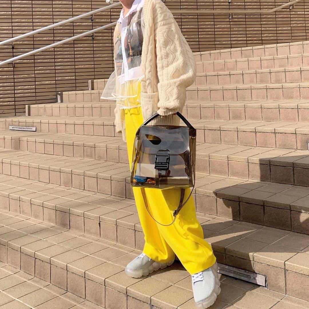 最高気温19度・最低気温8度 rira_yukariの服装