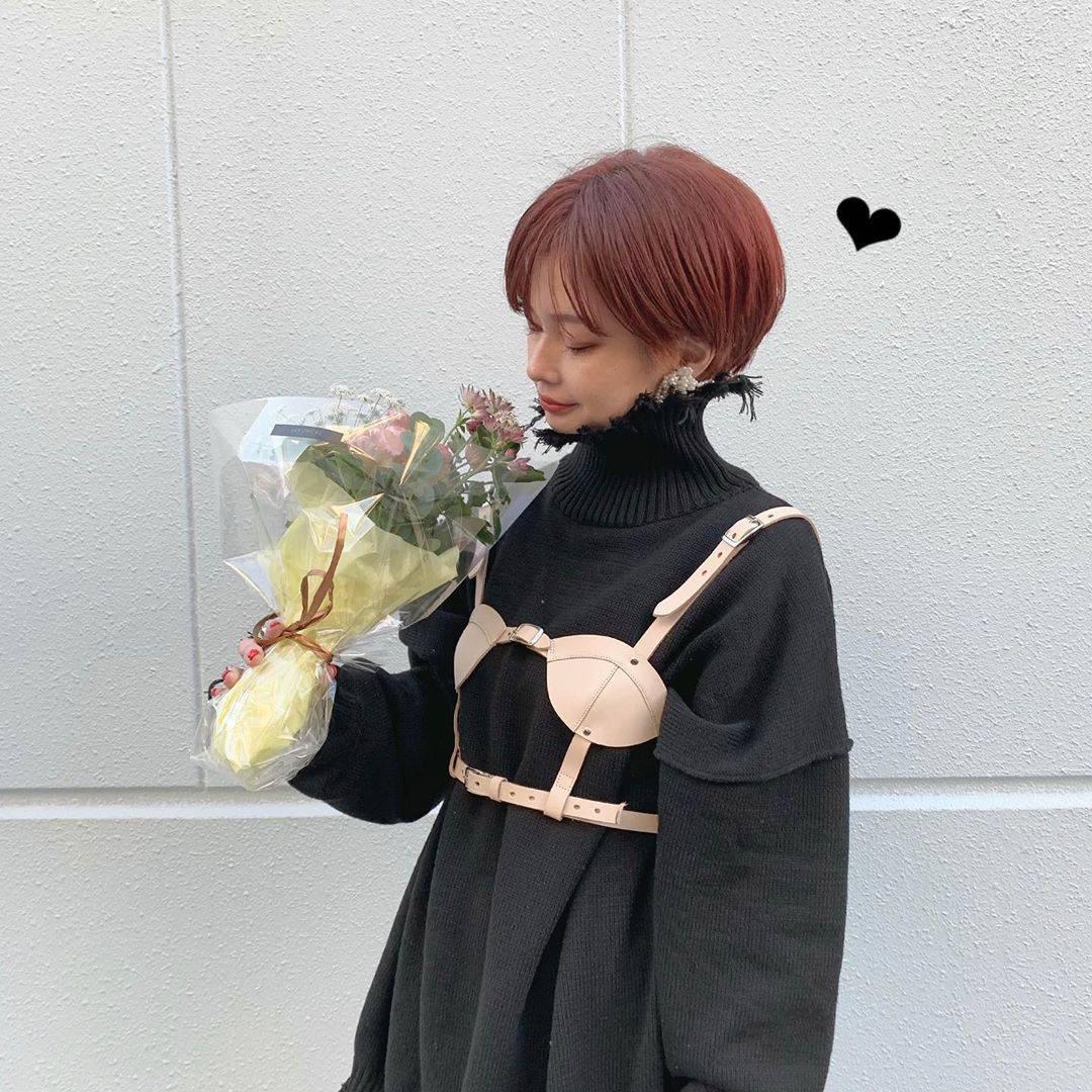 最高気温15度・最低気温8度 rira_yukariの服装