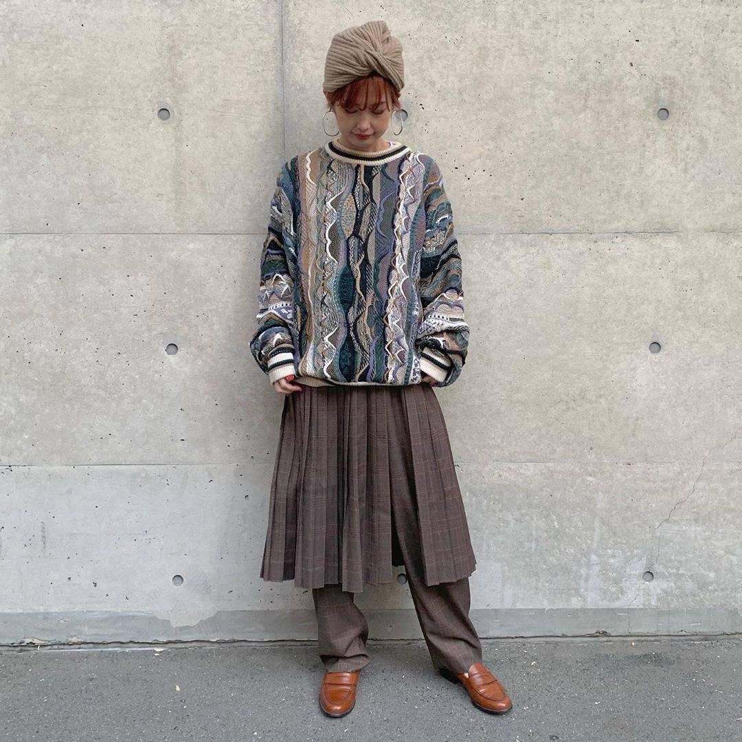 最高気温16度・最低気温6度 rira_yukariの服装