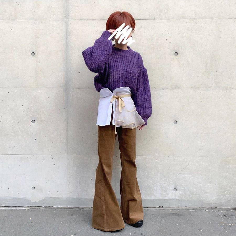 最高気温17度・最低気温9度 rira_yukariの服装