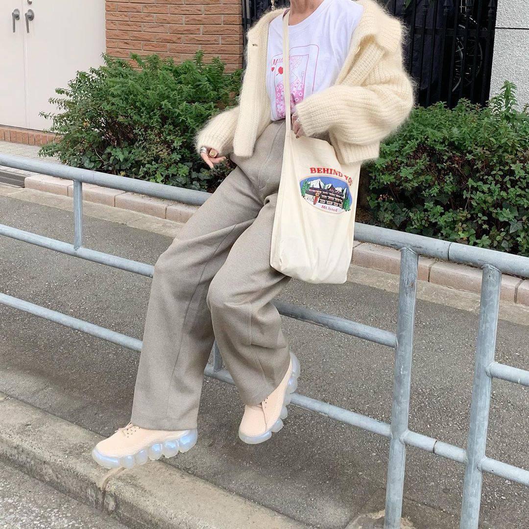 最高気温8度・最低気温4度 rira_yukariの服装