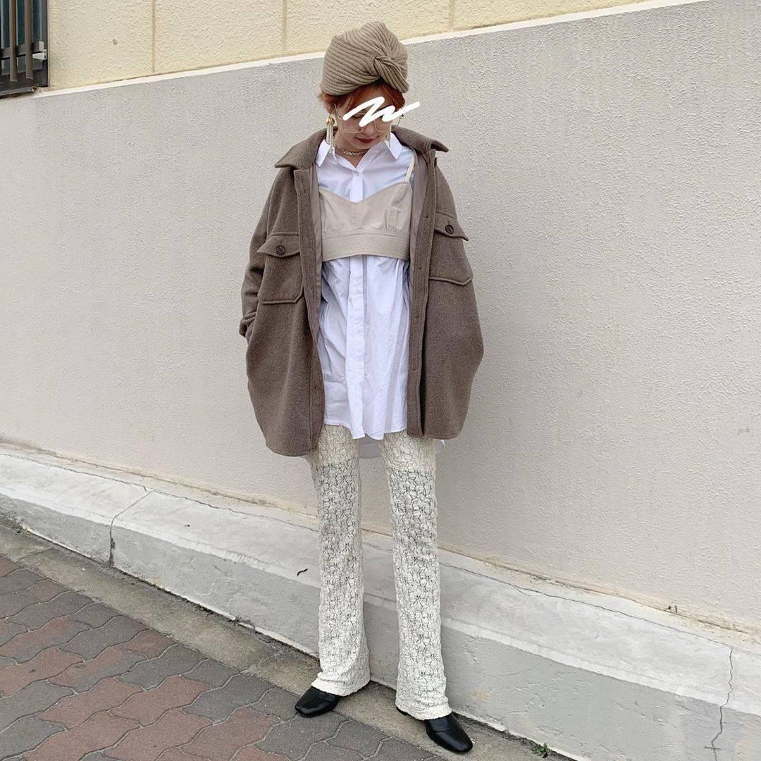 最高気温10度・最低気温2度 rira_yukariの服装