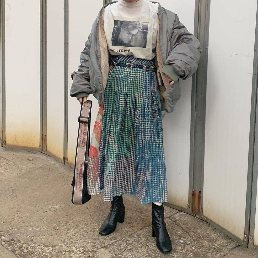 最高気温12度・最低気温1度 rira_yukariの服装