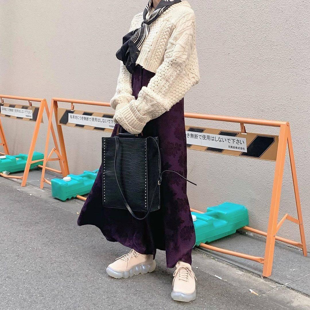最高気温10度・最低気温0度 rira_yukariの服装