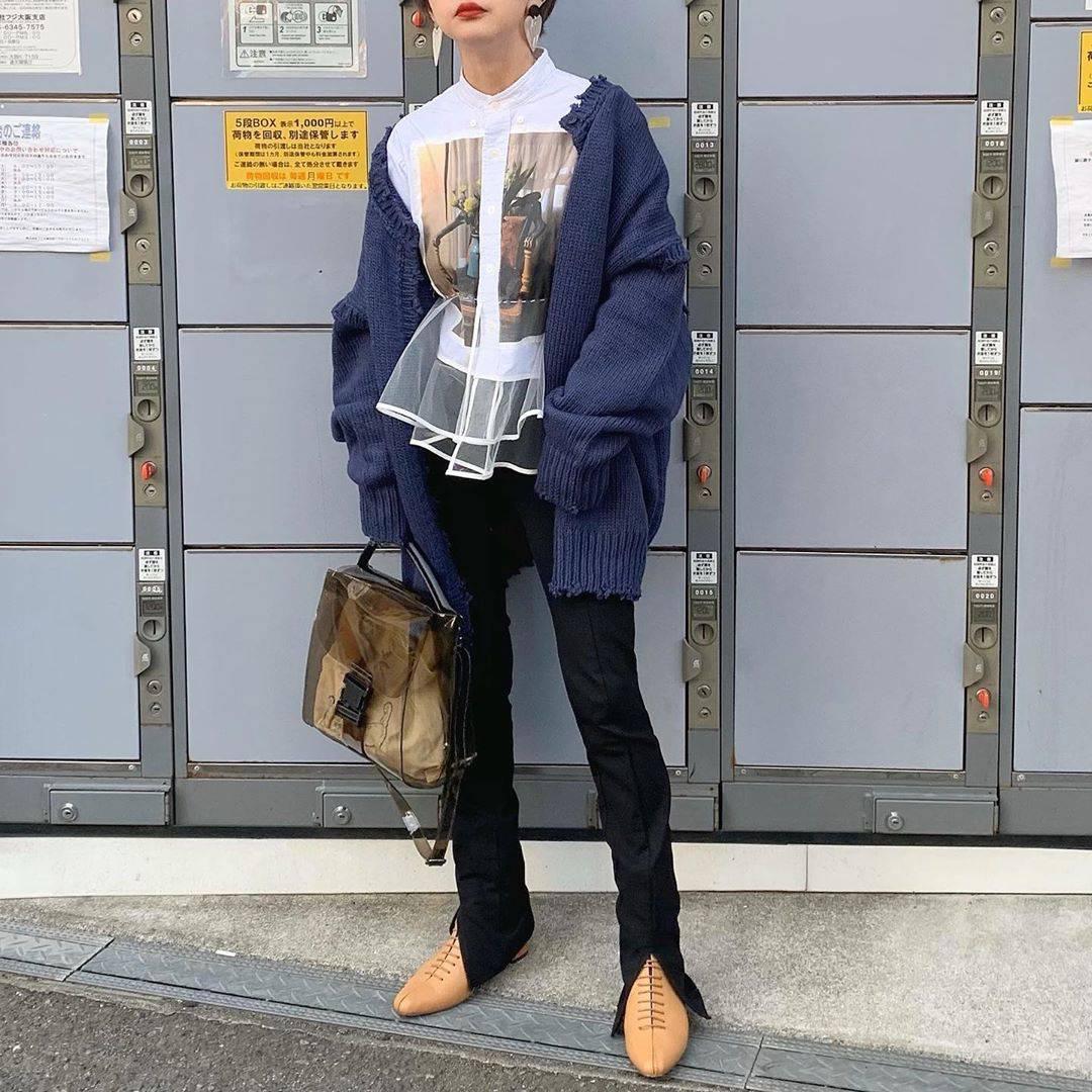最高気温12度・最低気温5度 rira_yukariの服装