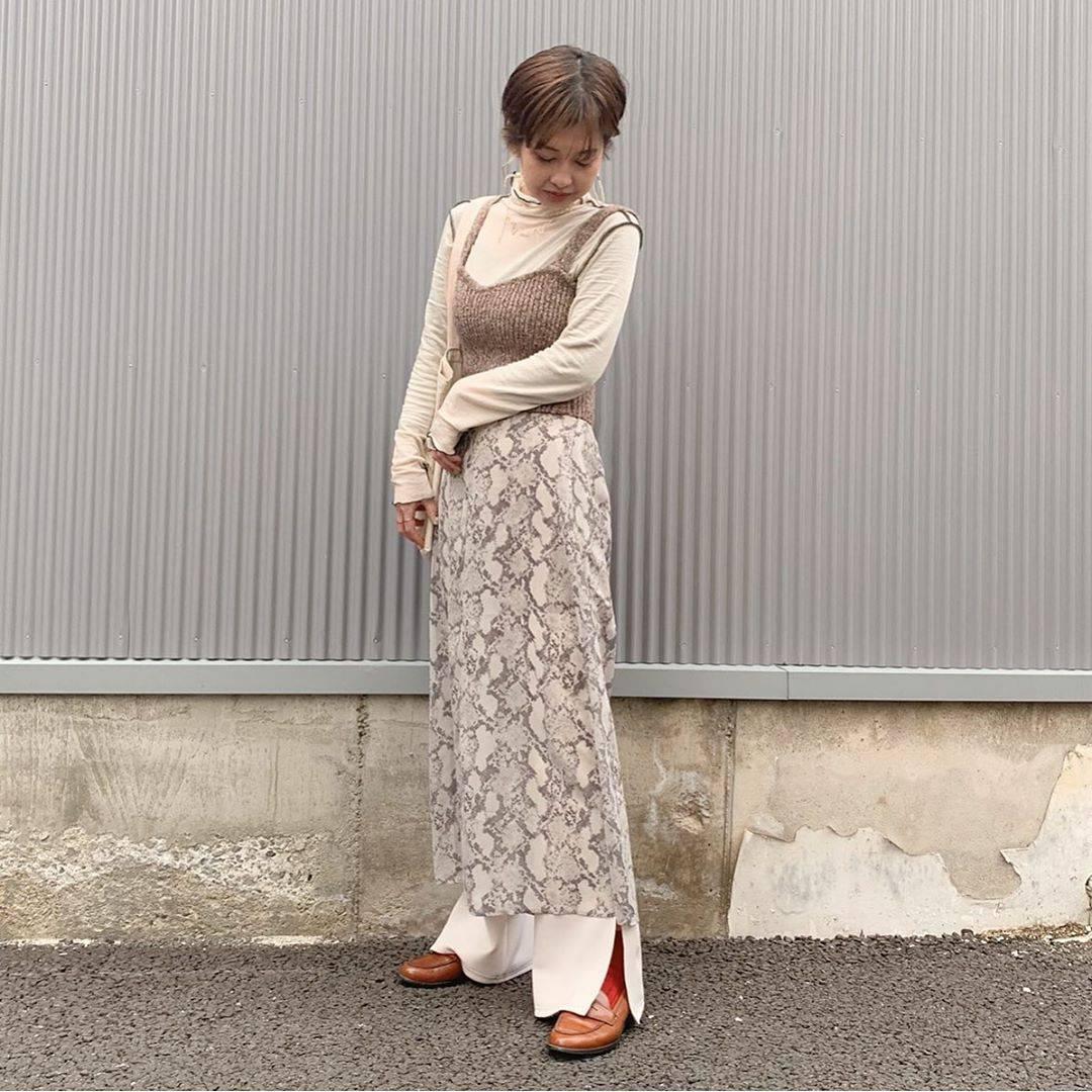 最高気温10度・最低気温5度 rira_yukariの服装