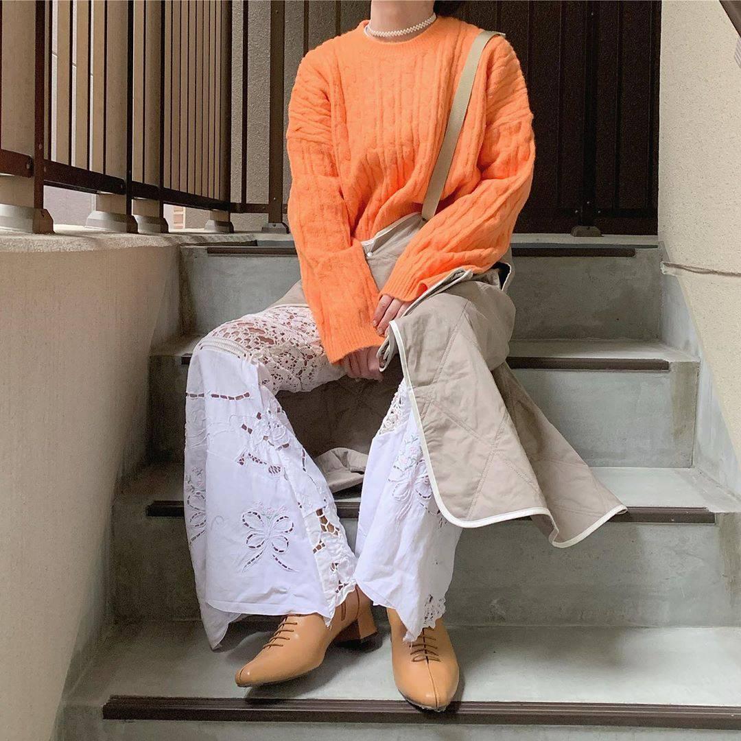 最高気温6度・最低気温2度 rira_yukariの服装