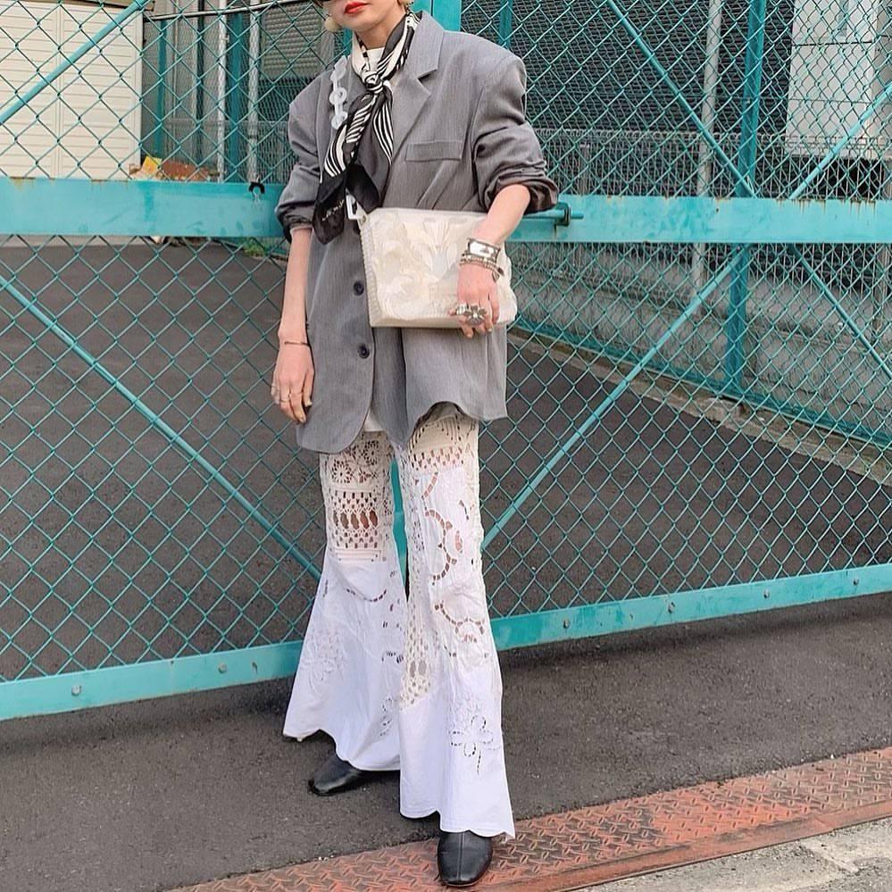 最高気温10度・最低気温7度 rira_yukariの服装