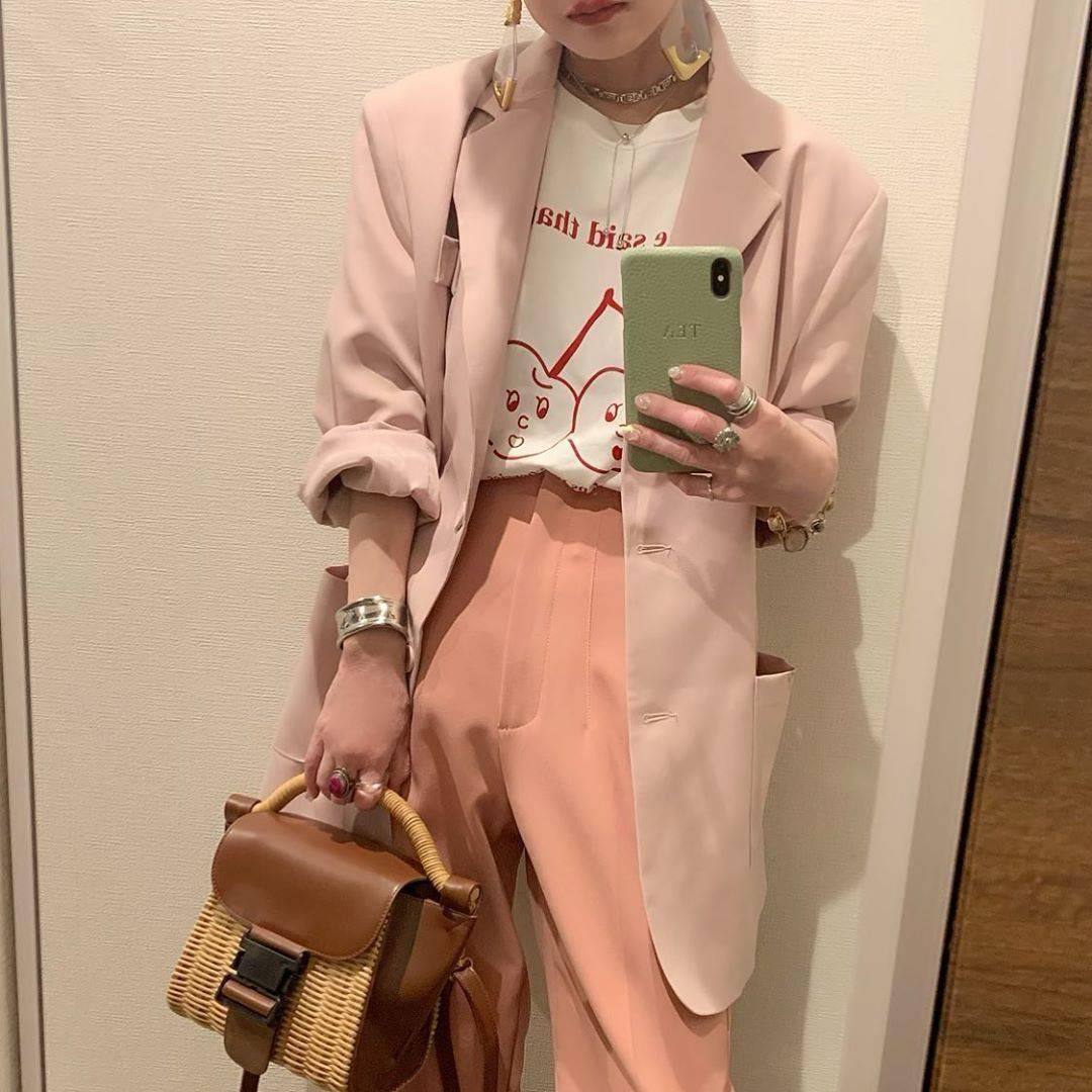 最高気温14度・最低気温7度 rira_yukariの服装