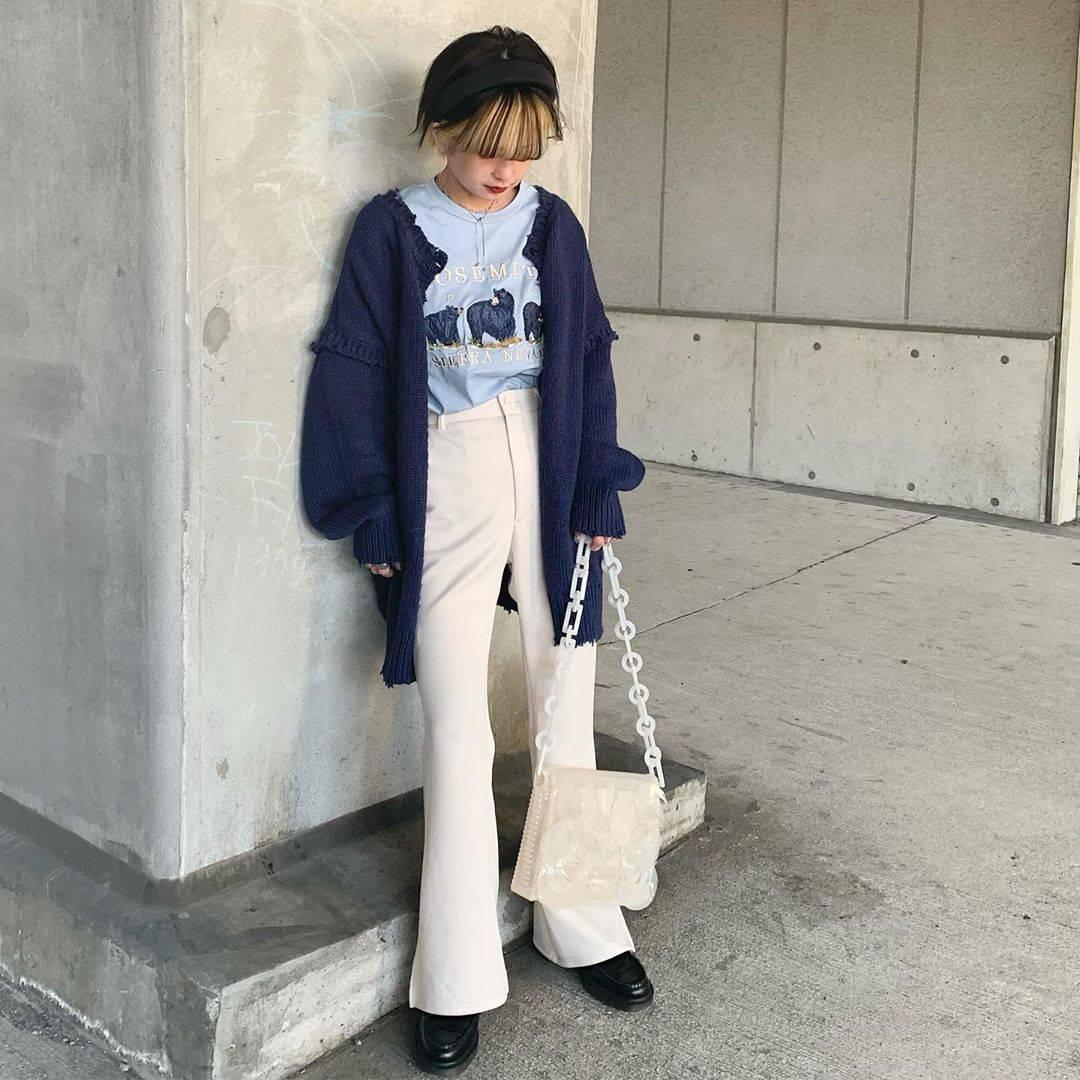 最高気温20度・最低気温5度 rira_yukariの服装