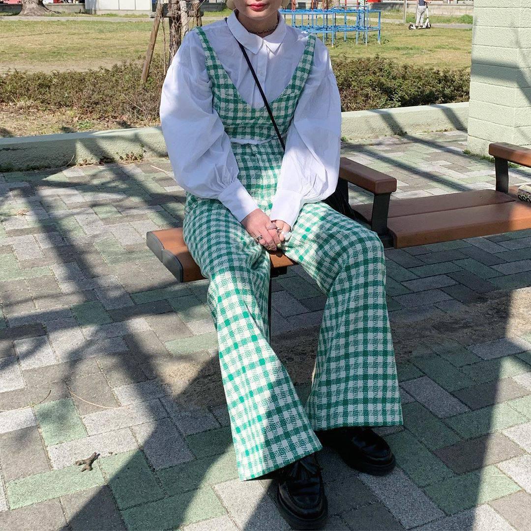最高気温10度・最低気温8度 rira_yukariの服装