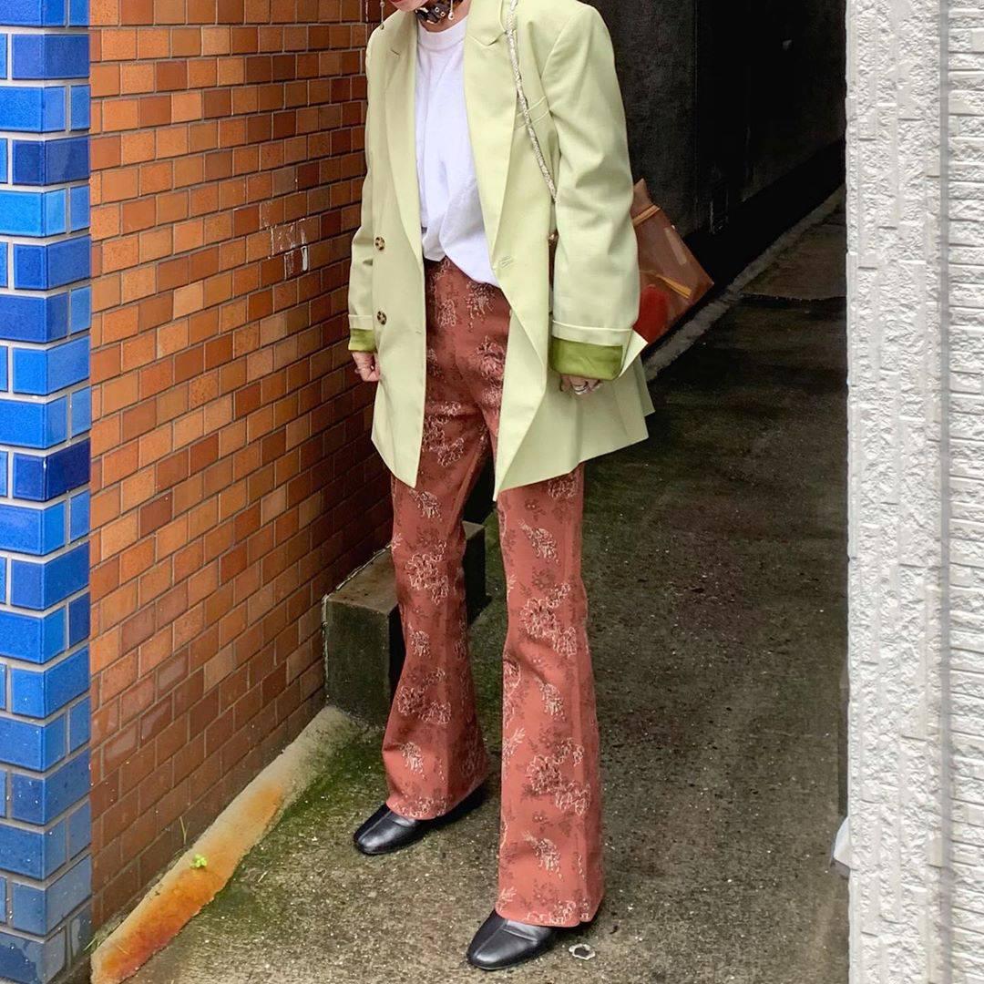 最高気温24度・最低気温11度 rira_yukariの服装
