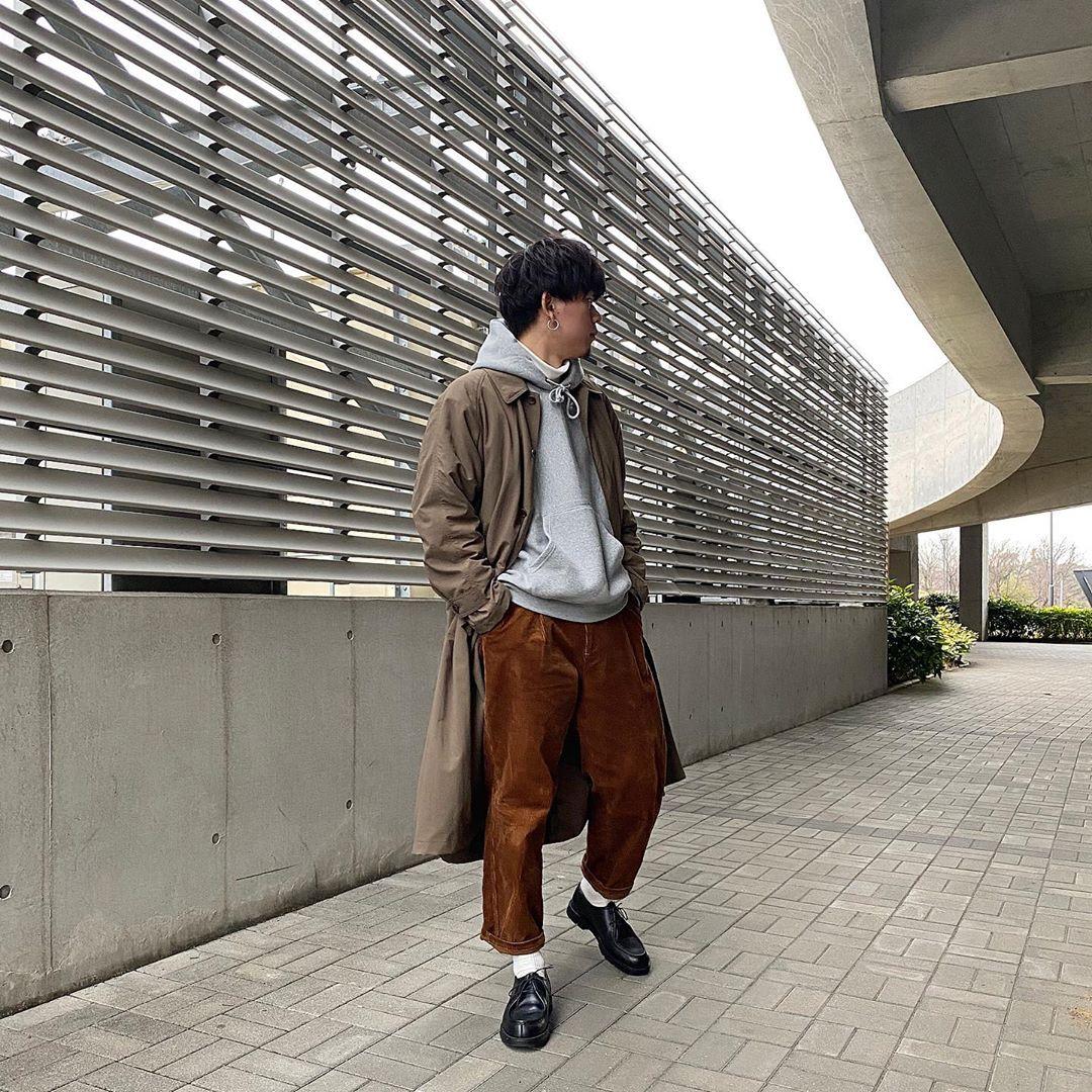 最高気温18度・最低気温13度 ryokun.0219の服装