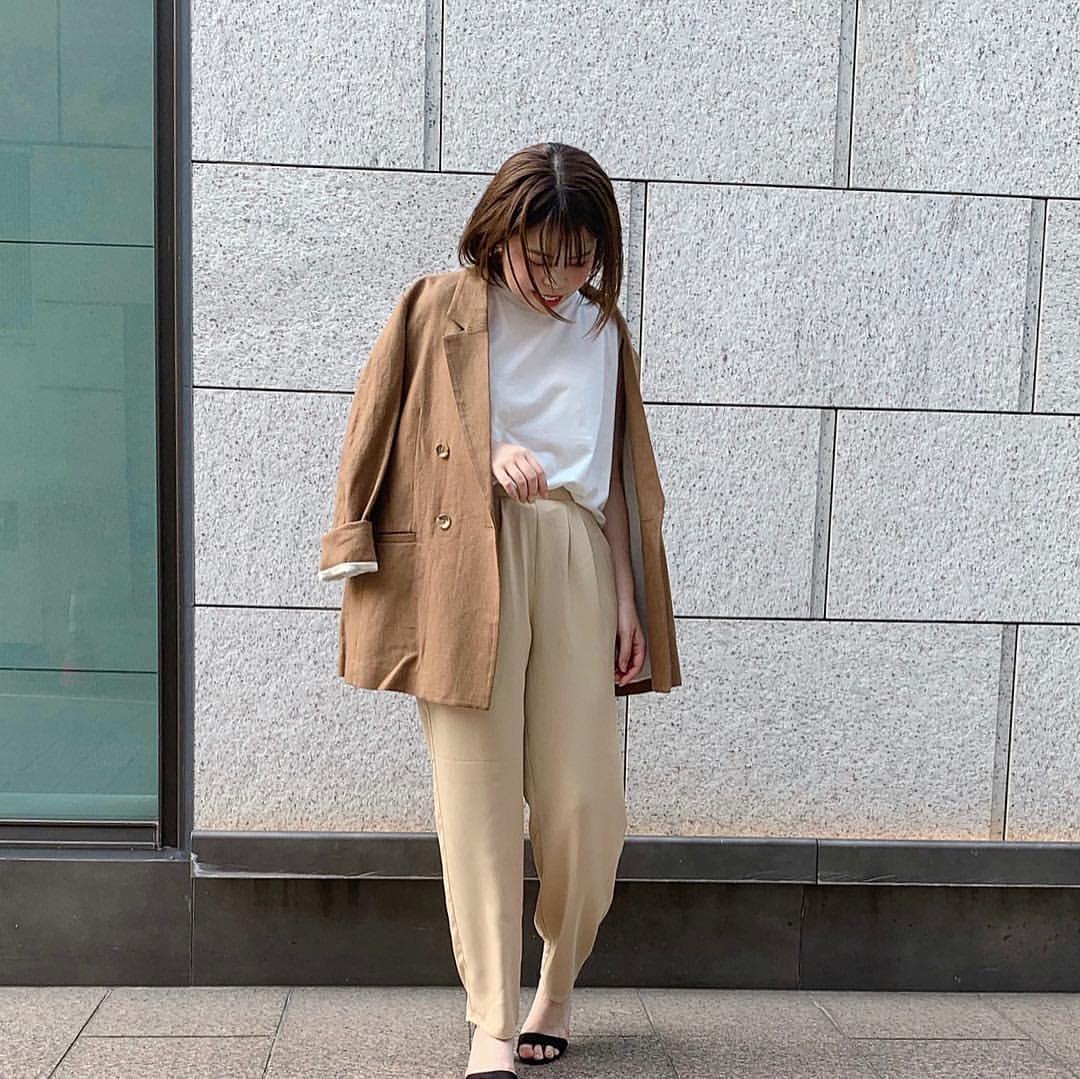 最高気温23度・最低気温15度 sumire__apの服装