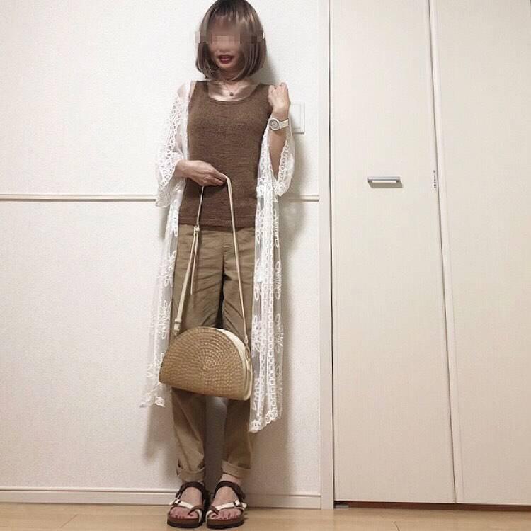 最高気温28度・最低気温24度 takanogunsou0805の服装