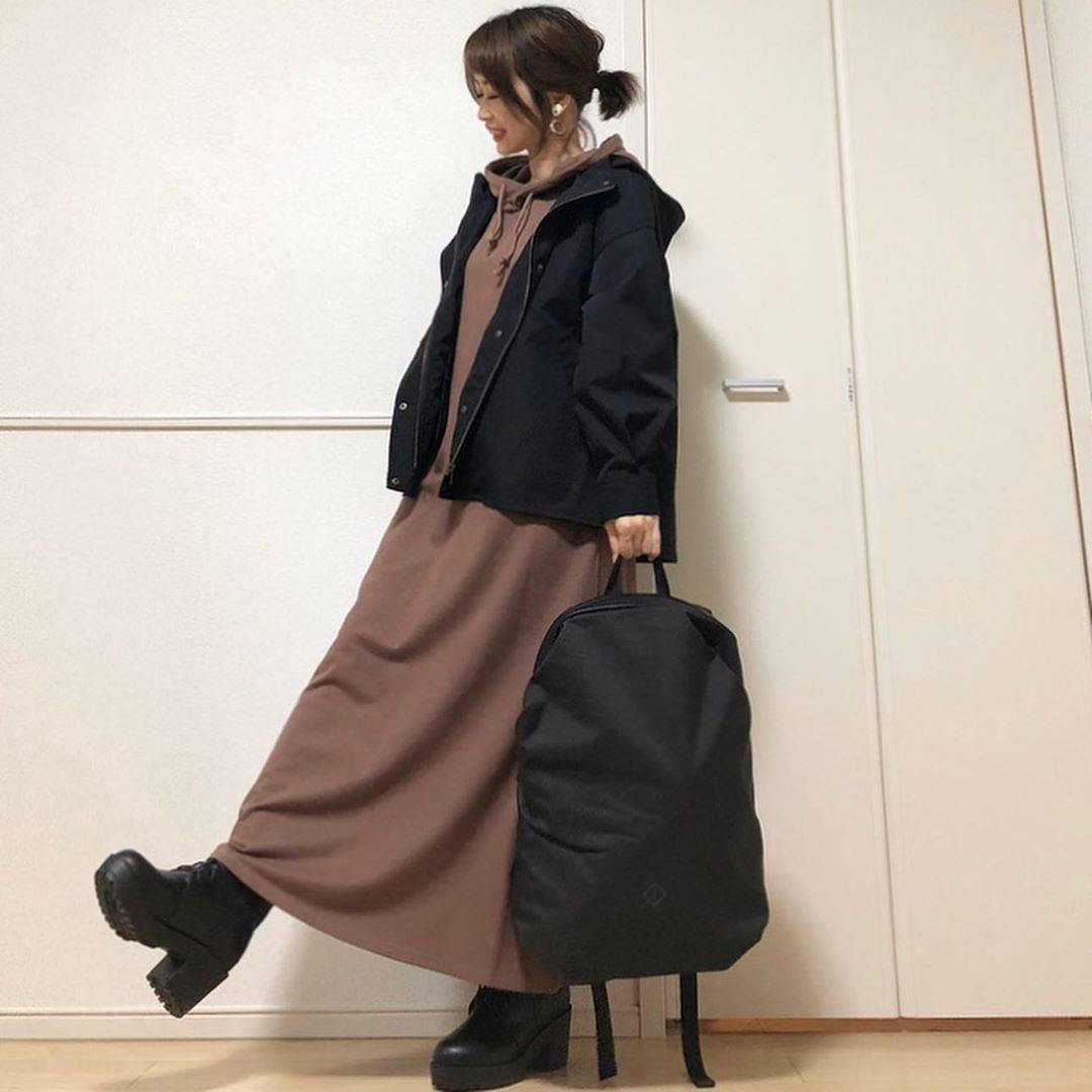 最高気温17度・最低気温11度 takanogunsou0805の服装