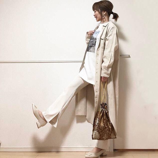 最高気温18度・最低気温6度 takanogunsou0805の服装