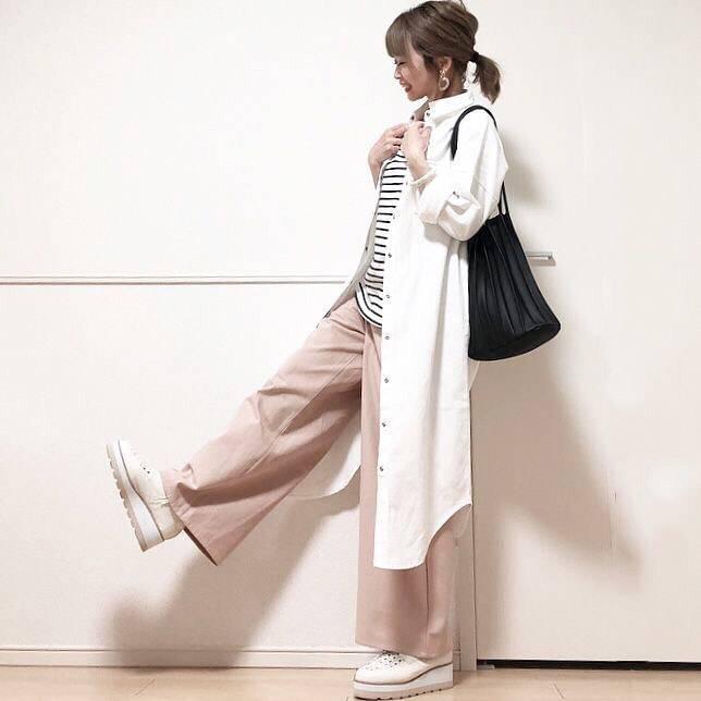最高気温19度・最低気温8度 takanogunsou0805の服装