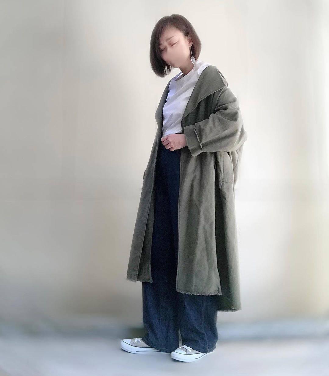最高気温25度・最低気温15度 unange103の服装