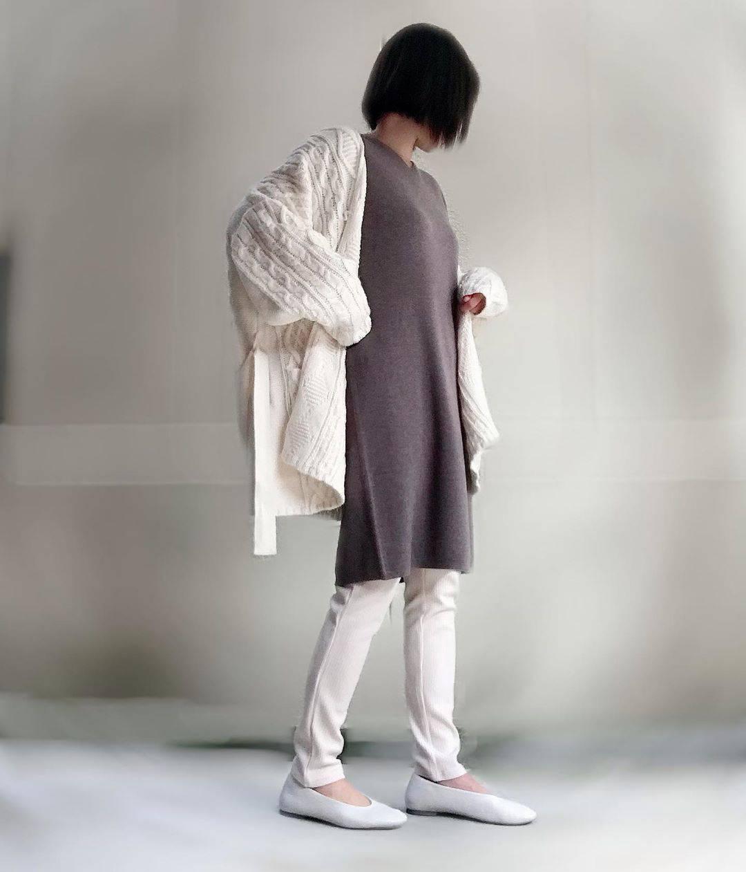 最高気温21度・最低気温8度 unange103の服装