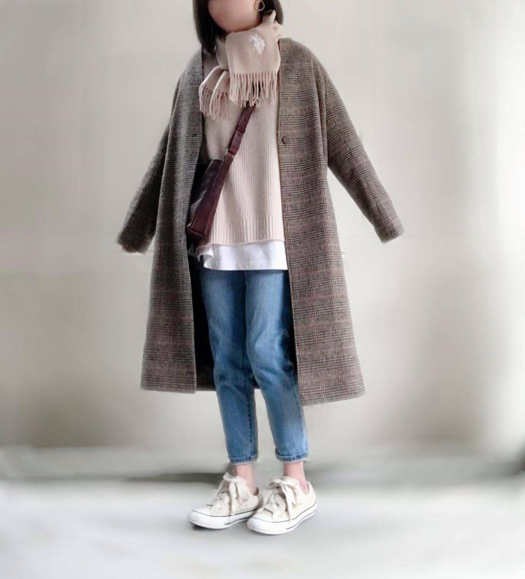 最高気温13度・最低気温2度 unange103の服装