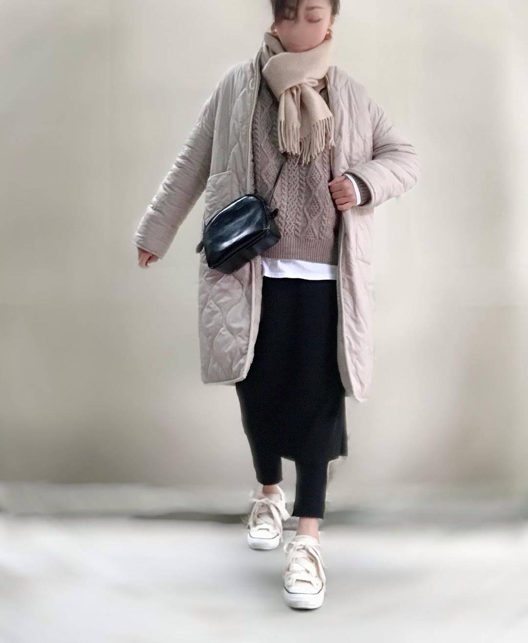 最高気温11度・最低気温8度 unange103の服装