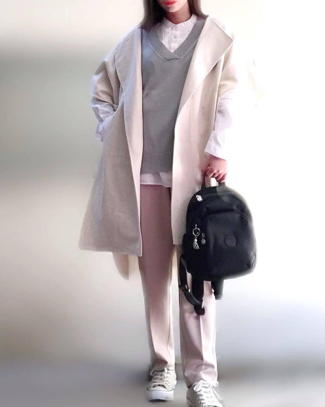 最高気温18度・最低気温7度 unange103の服装