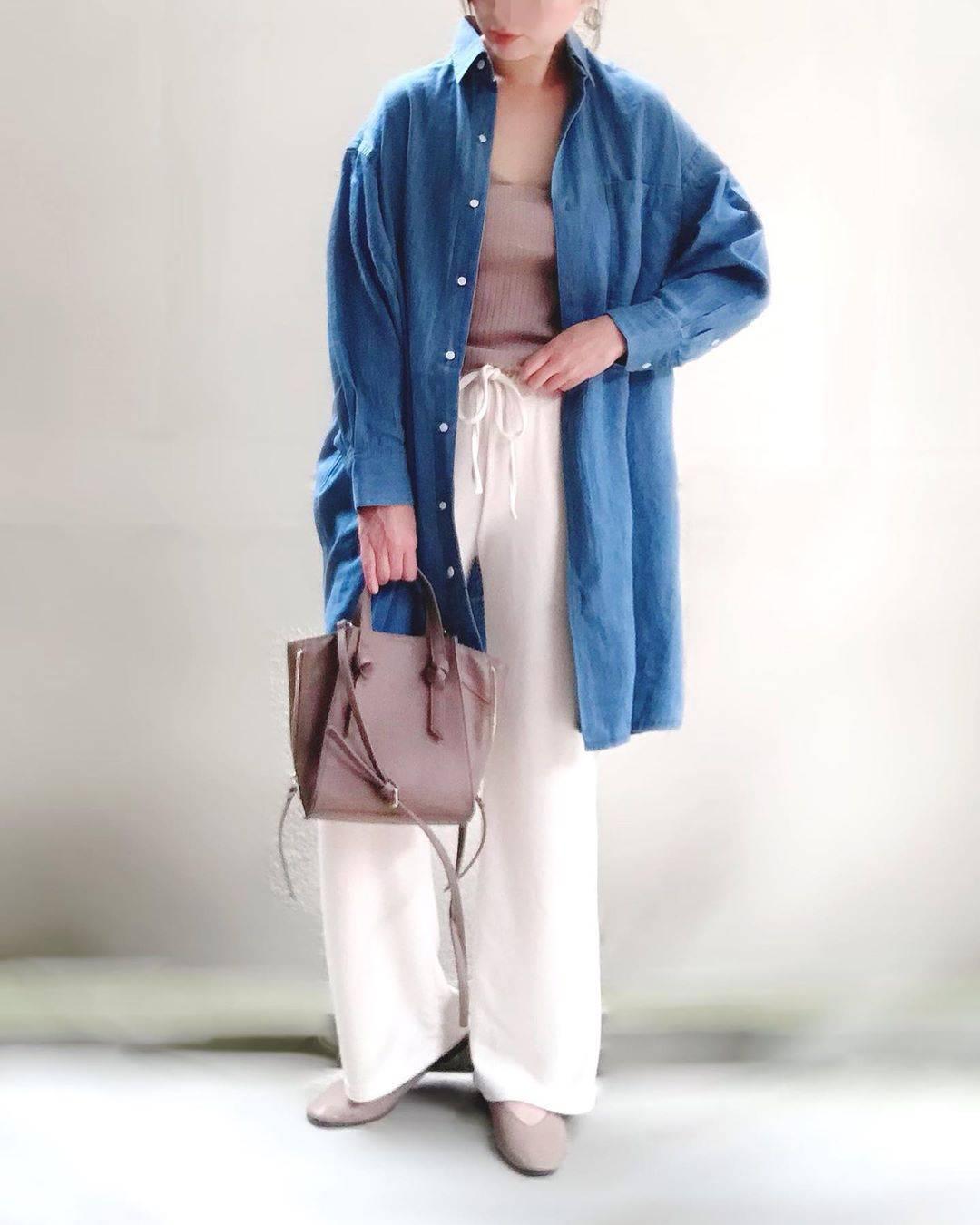 最高気温18度・最低気温6度 unange103の服装