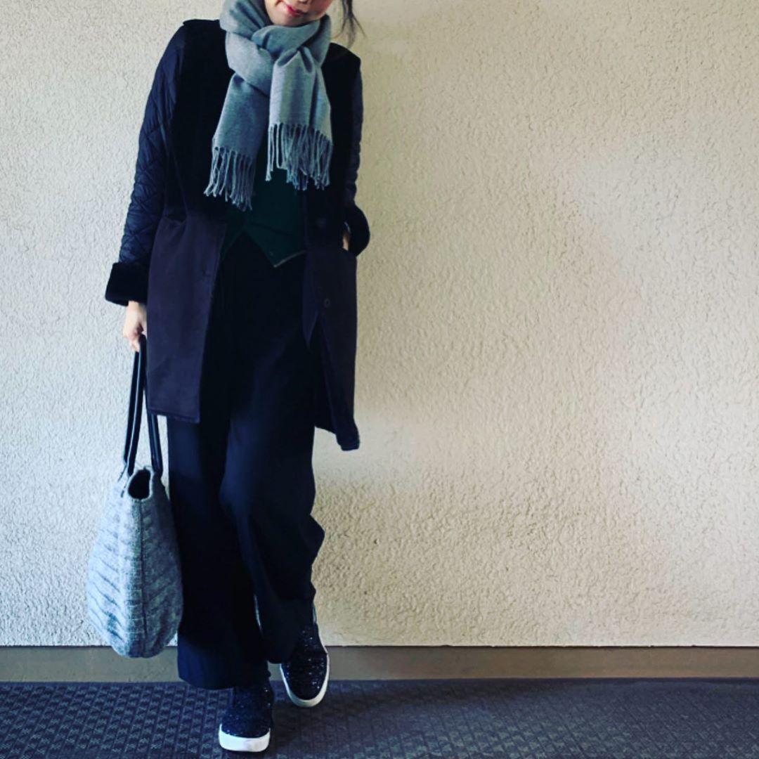 最高気温15度・最低気温0度 yasuyamayasumiの服装