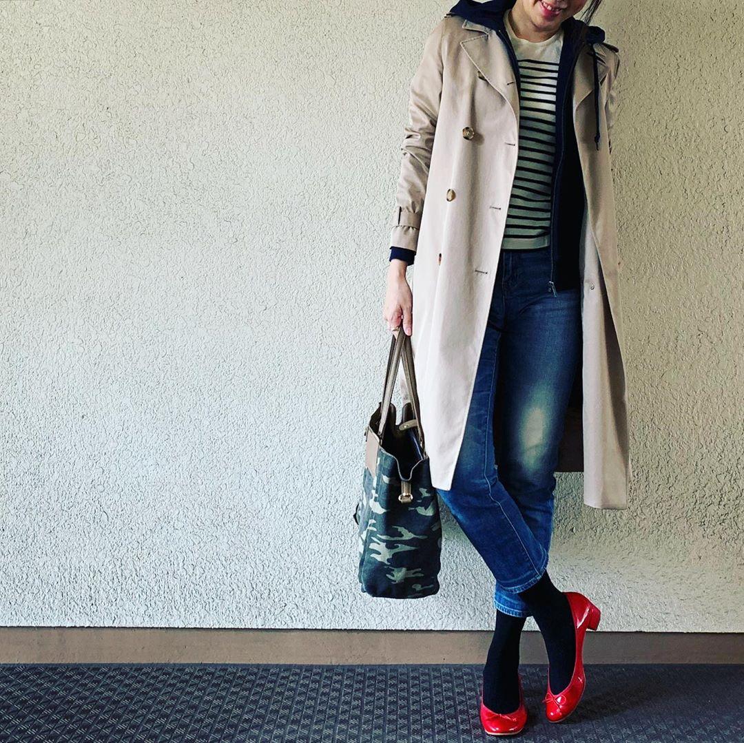 最高気温18度・最低気温5度 yasuyamayasumiの服装