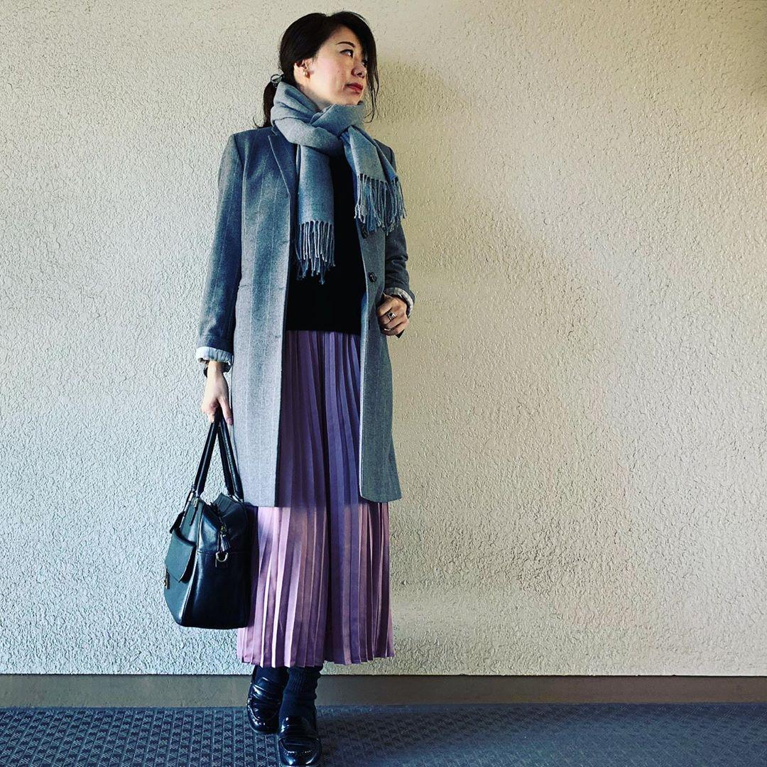 最高気温17度・最低気温7度 yasuyamayasumiの服装