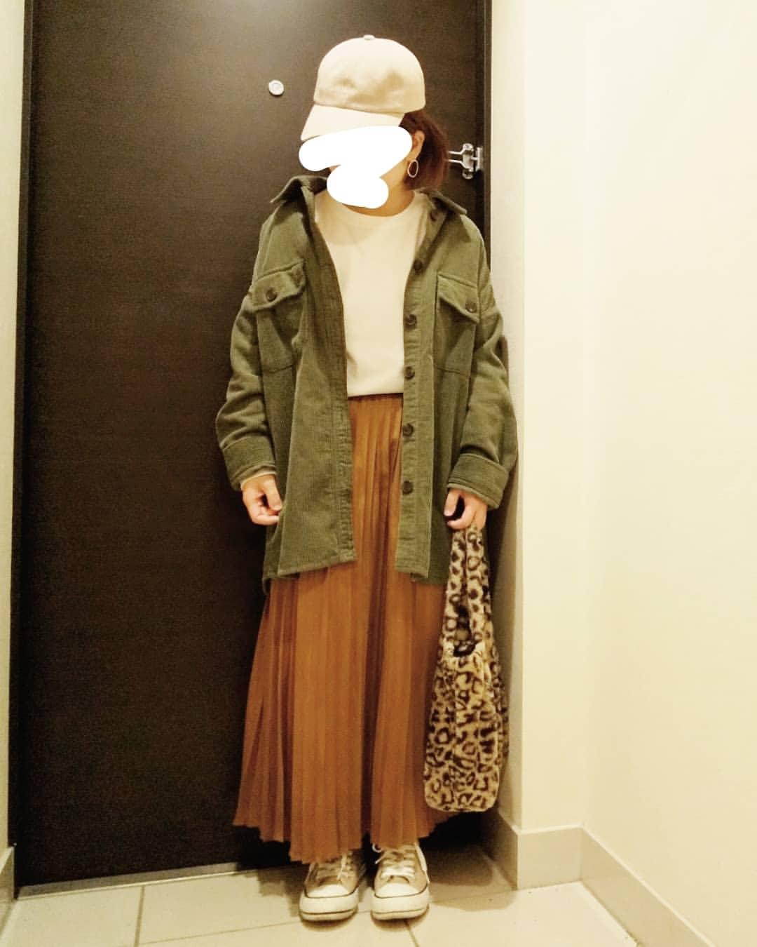 最高気温18度・最低気温12度 yoco_145cmの服装