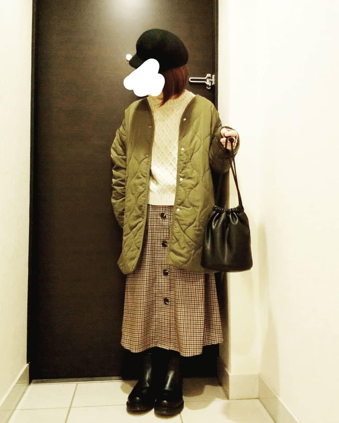 最高気温17度・最低気温9度 yoco_145cmの服装