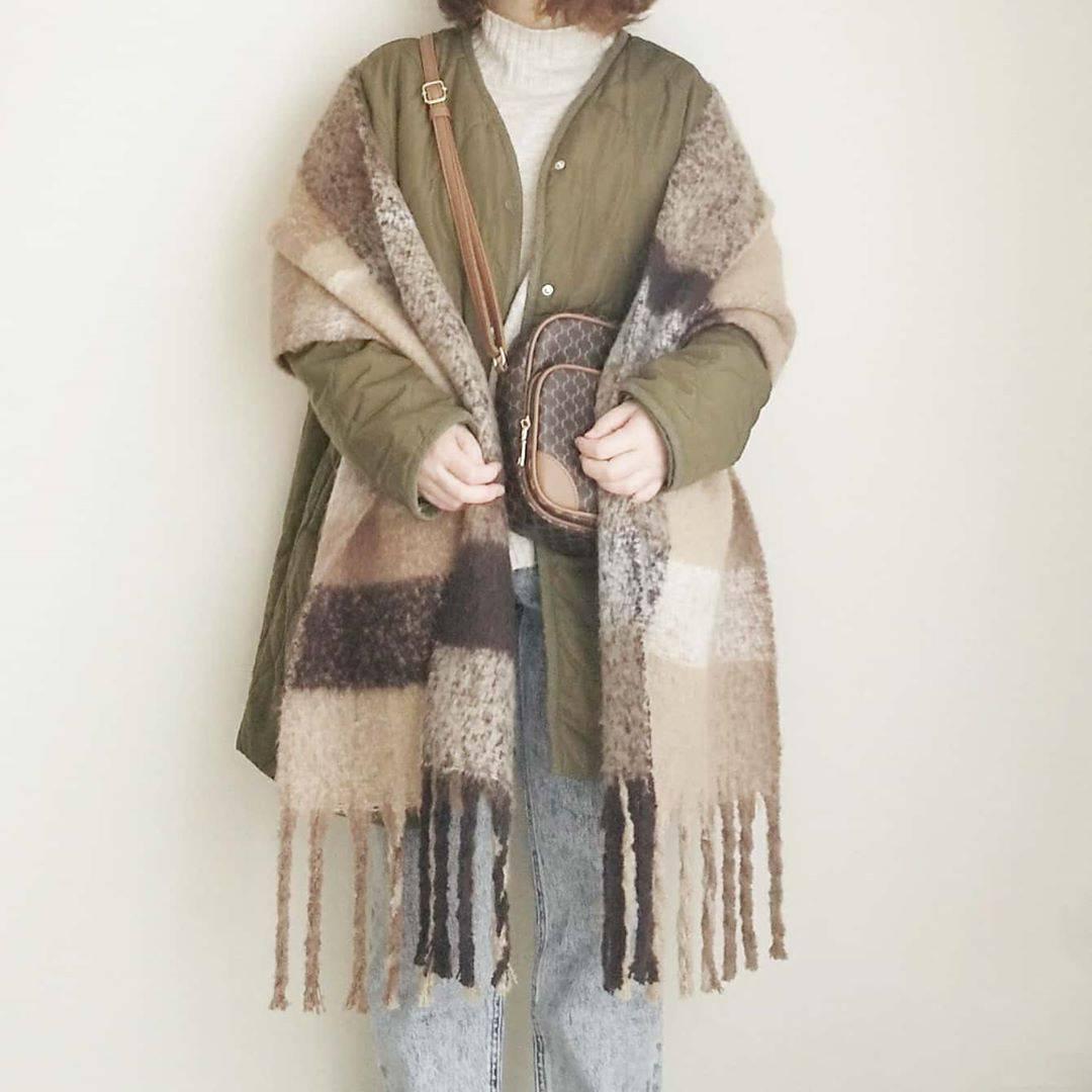 最高気温18度・最低気温7度 yoco_145cmの服装